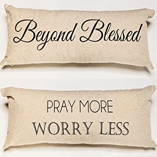 Evelyn Hope Collection Pray-Blessed Spiritual Reliious Message Throw Pillow,Prayer Pillows,Spiritual Pillows,Religious Pillows,Prayer Signs,Blessed Sign,Blessed Pillow,Prayers,Beyond Blessed