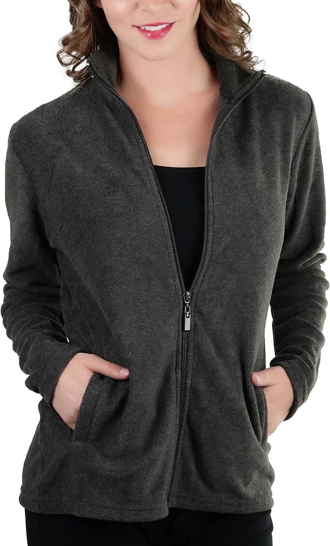 Popular popular ToBeInStyle Women's Zip Ranking TOP13 Up High Polar Collar Fleece Jacket