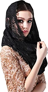 Infinity Veils Lace Scarf Veil Head Covering Latin Mass Mantilla Veil with Free Hairclip