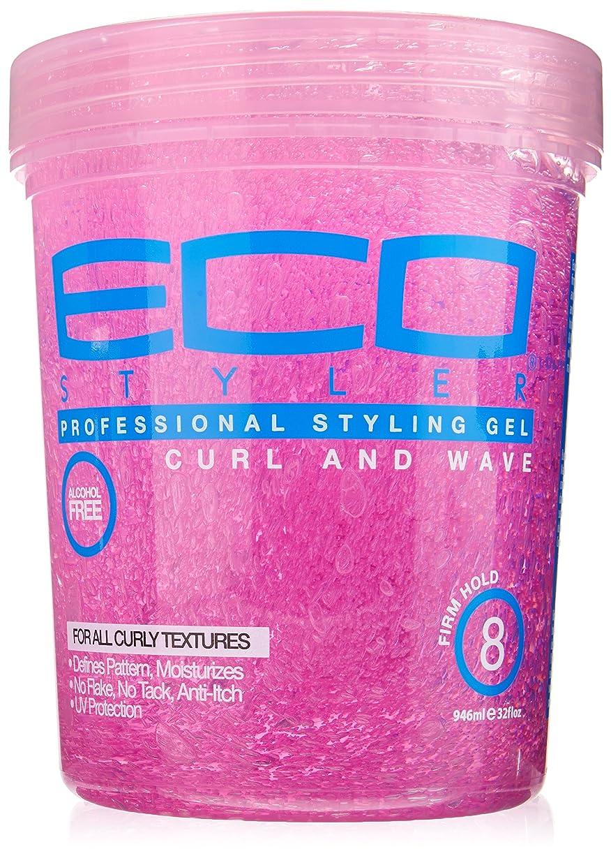 必要膜教会Eco Styler Styling Gel Pink Jar 900 gm (並行輸入品)