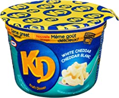 Kraft Dinner Snack Cups White Cheddar Macaroni & Cheese 58g Cups (Pack of 10)