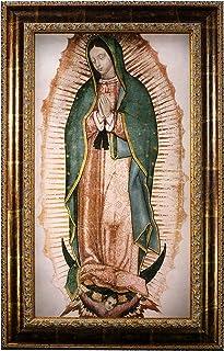 Sponsored Ad - Mom's Art Studio - Virgen de Guadalupe Wall Decor 44 X 27.75 Inches, Virgin Mary Print, Museum Look Art Fra...