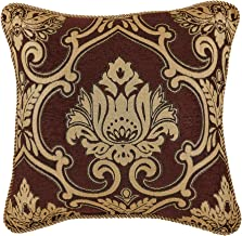 Croscill Gianna Decorative Pillow, Square Pillow, Red