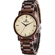 Wood Watch for Men Quartz Mens Watch Engraved Wooden Personlized Wrist Watch Christmas Gifts with...