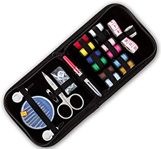 Travel Sewing Kit The Best Solution for Fashion Emergencies, Camping, College Dorms, Weddings, and Any Other Situation On-The-Go Case with Zippered Enclosure