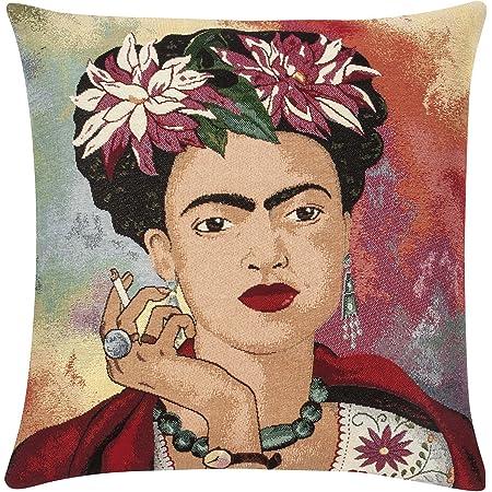 Car Sofa decor Art print Frida Kahlo Linen Cushion cover Pillow case 45x45cm