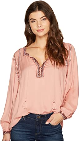 Lucky Brand - Embroidered Peasant Top