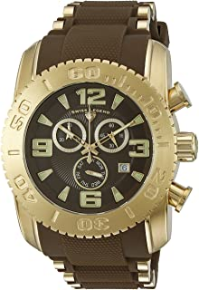 Swiss Legend Men's 10070-YG-04-BRWS Commander Pro Analog Display Swiss Quartz Brown Watch