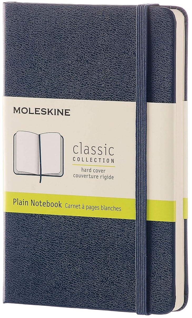 Moleskine Classic Notebook, Pocket, Plain, Sapphire Blue, Hard Cover (3.5 x 5.5)