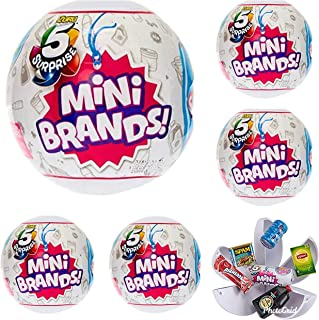 5-Surprise Mini Brands Collectible Capsule Ball by Zuru - 6 Ball Bundle