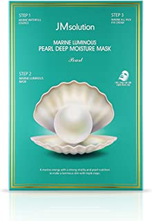 JM Solution Marine Luminous Pearl Deep Moisture 3 Step Mask - Pack of 10