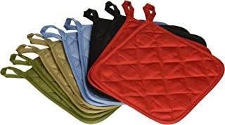 American Linen (Ten) 10 Pack Pot Holders 6.5 Square Solid Color Everday Quality Kitchen..