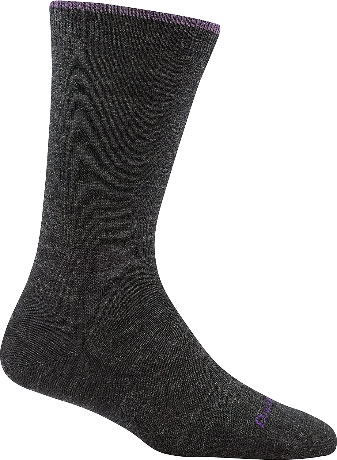 Darn Tough Women's Merino Wool Solid Basic Crew Light Socks, Charcoal, Small  6 Pack