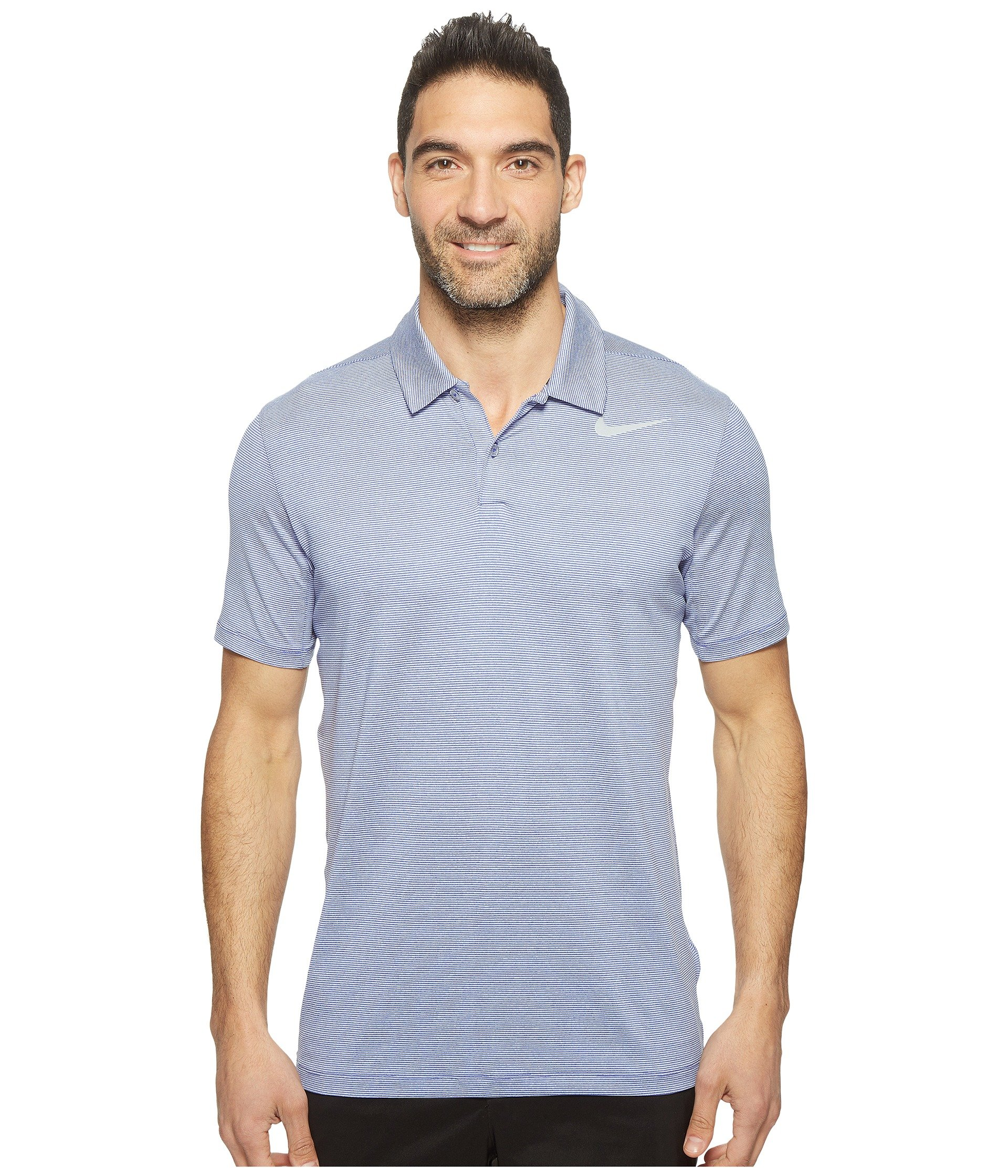 Lightweight poly-stretch blend offers increased mobility and all-day comfort.  Fold-down collar. Two-button placket. 1f0be8cf4