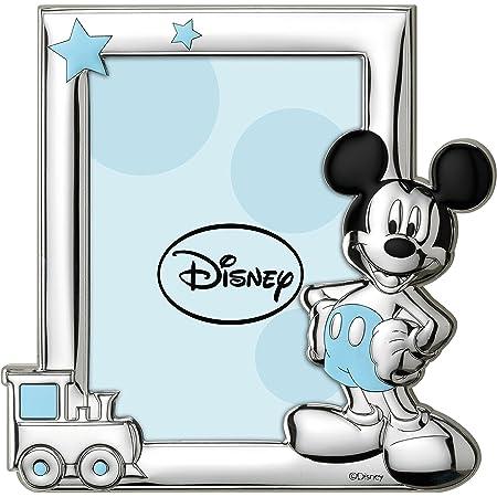 Disney Baby - Topolino Mickey Mouse - Cornice per Foto in Argento da Tavolo o Comodino per la Cameretta del Bambino perfetta come Idea Regalo Battesimo o Compleanno