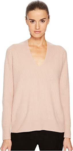 Vince - Raglan Rib Double V-Neck