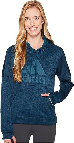 adidas - Team Issue Fleece Pullover Logo Hoodie