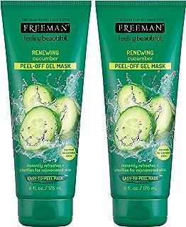 Freeman Feeling Beautiful Cucumber Peel-Off Gel Mask, 6-Ounce, 2 Count