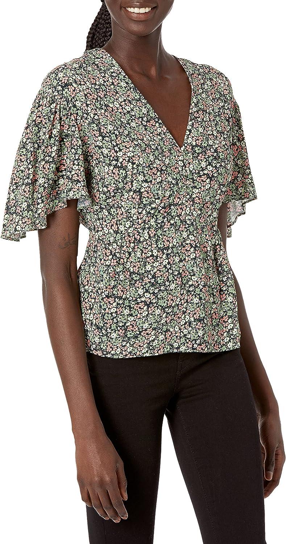 The Kooples Women's Floral Printed Bell Sleeved Top