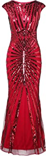 BABEYOND Women's 1920s Vintage Sequined Flapper Dress Roaring 20s Great Gatsby Dress for Costume Party