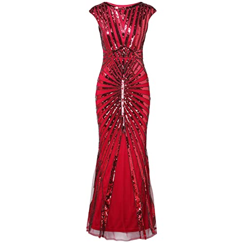 BABEYOND Women s 1920s Vintage Sequined Flapper Dress Roaring 20s Great  Gatsby Dress for Costume Party a6eb4070f572