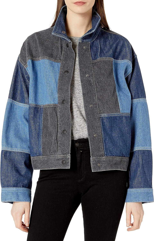 AG Adriano Goldschmied Women's Kaya 80's Panelled Oversized Fit Denim Jacket