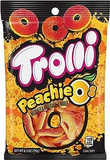 Trolli Peachie-O Rings, Peach, 6.3 Ounce (Pack of 8)