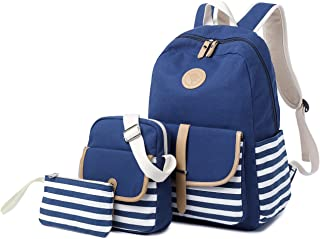 School Backpack for Girls, Gazigo Womens High School College Bookbags Laptop Bag (Blue)