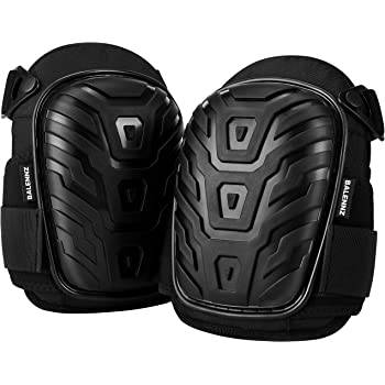 Professional Knee Pads for Work - Heavy Duty Foam Padding Gel Construction Knee Pads with Strong Double Straps – Comfortable Knee Protection for Indoor and Outdoor Use (Knee High)