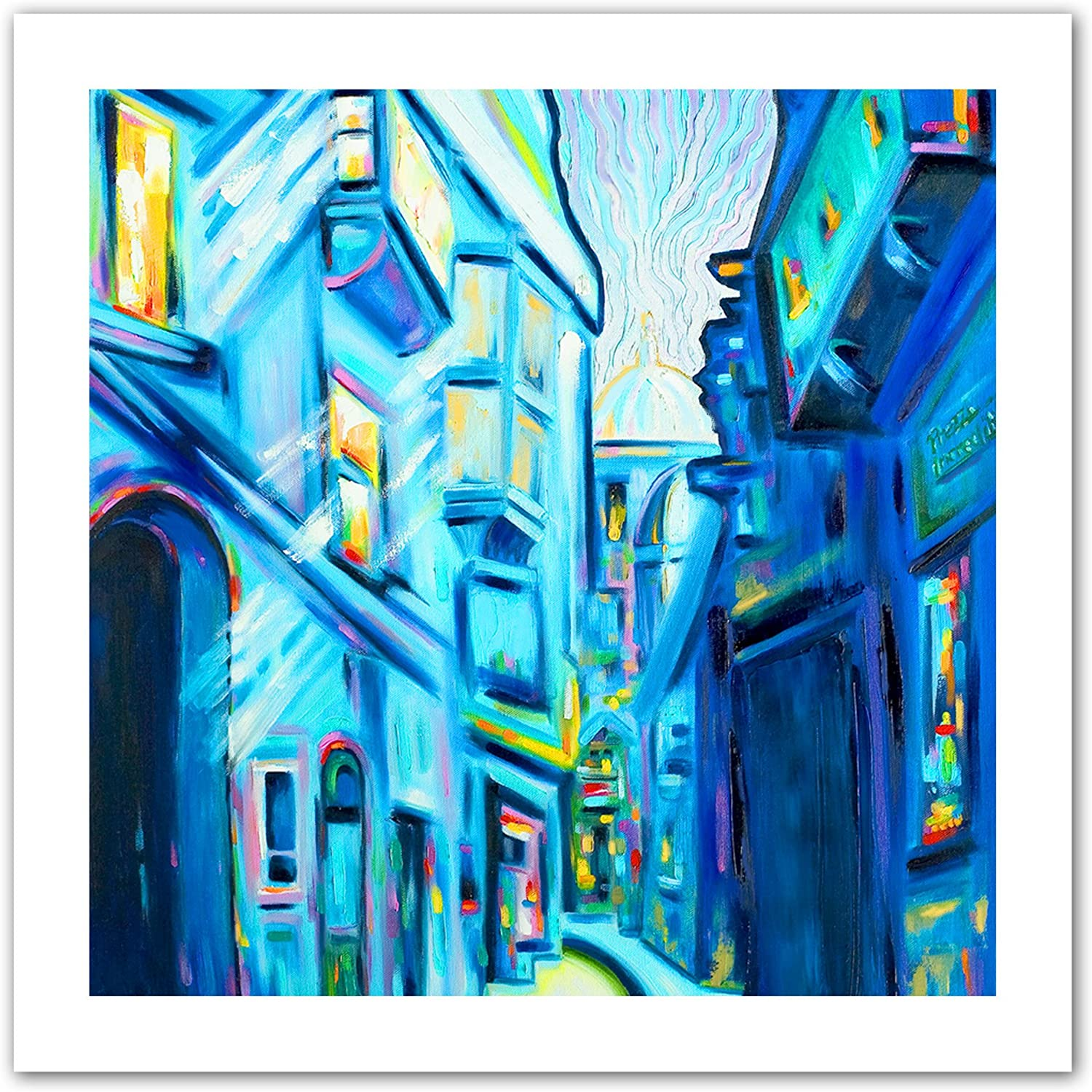 Art Wall Magical Alleys of Venice Unwrapped Canvas Art by Susi Franco, 18 by 18Inch