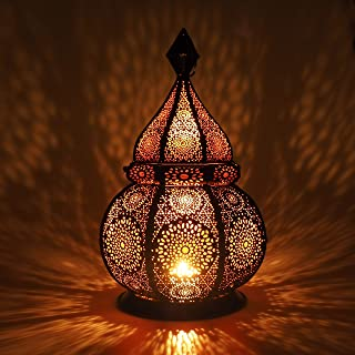 Gadgy ® Moroccan Lantern (36 cm) l Lantern for candles and Electric Lights l Indoors and Outdoors Deco l Wind-resistant l ...