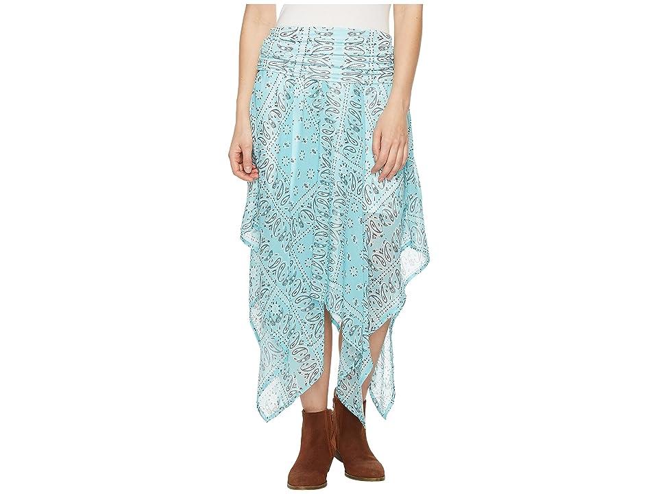 Tasha Polizzi Handkerchief Skirt (Blue) Women