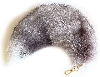 Real Fox Tail Fur Keychain Clasp Fashion Charm Cosplay Toy