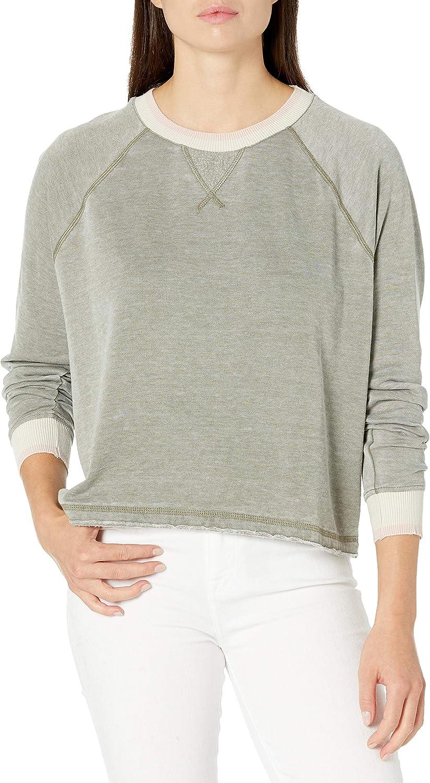 Splendid Women's Long Sleeve Crewneck Pullover Sweater