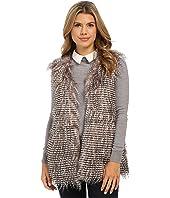 Olive & Oak - Short Sleeve Faux Fur Vest