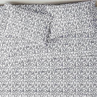 Linen Market 4 Piece Sheet Set Patterned, Queen, Burst of Vines Navy