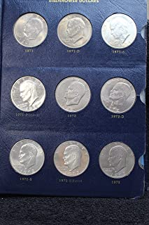 Complete Set Eisenhower (Ike) Dollars 1971 - 1978 PDS in Whitman Album -- All Key Dates including 1979 Transitional Year SBA Dollars All High Grade Mint State BU and Proof -- Includes all Silver Issues -- Total of 35 Beautiful Coins