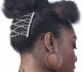 (Medium, Silver) - HairZing Austin Hair Comb, Hair Accessory Perfect for Easy Ponytails, UpDos and Twists, Silver, Medium