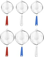 Set of 6 Wire Mesh Strainers! Easy Grip Handle - 3.15