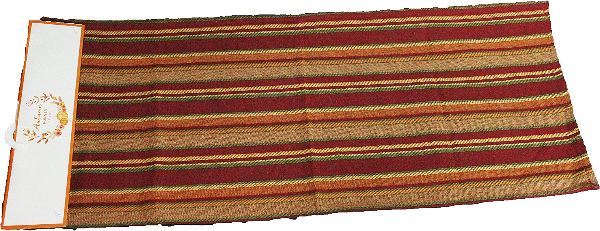 Twisted Anchor Trading Co Fall Table Runner Terracotta Stripe Casual Cotton Fall Table Runners 72 Inch X 13