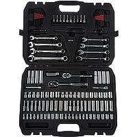 AmazonBasics Mechanic Socket Tool Kit Set With Case (Set of 145)