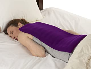 Sunny Bay XL Body Heating Wrap, Personal, Reusable, Hot & Cold Compress, Washable Cover, Heat Therapy Pad for Sore Neck, Back & Shoulder Muscle Pain Relief – Non-Electric, Purple
