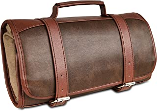 Mens Toiletry Bag Dopp-Kit Hanging Leather Toiletry Bag Mens Travel Accessories Organizer Bag Shaving kit Bag with Hook Mens Gift