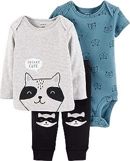 Carter's 3 Piece Little Character Set, Raccoon, 12 Months