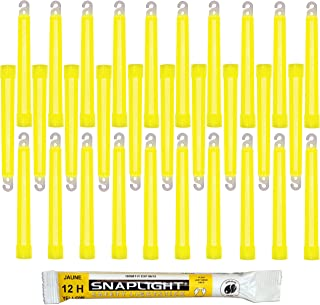 Cyalume SnapLight Yellow Light Sticks – 6 Inch Industrial Grade, High Intensity Glow Sticks with 12 Hour Duration (Pack of...