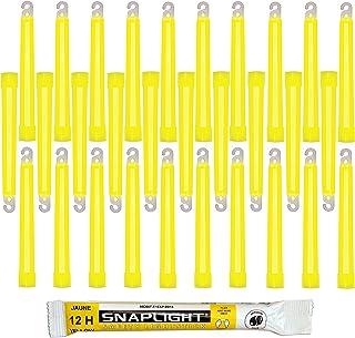 Cyalume SnapLight Jaune 15cm Bâton Lumineux Glow Stick Light Stick Fluorescent Durée 12 heures (Boîte de 30)