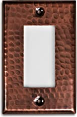 Monarch Pure Copper Hammered Single Rocker Wall Plate / Switch Plate