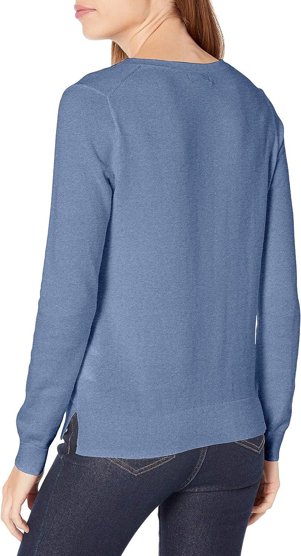 Nautica Women's Effortless J-Class Long Sleeve100% Cotton V-Neck Sweater