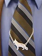 Large Sterling Silver German Shepherd Standing Study Tie Chain