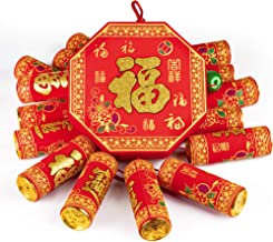 KI Store Chinese New Year Hanging Decorations Large Firecracker Decor Traditional Red Lucky Oriental Pendant Ornaments for...